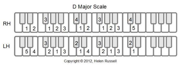 D Major Scale Shape