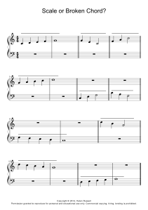Scales Broken Chords Worksheet